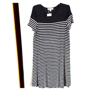 Love, Fire black and white summer dress small